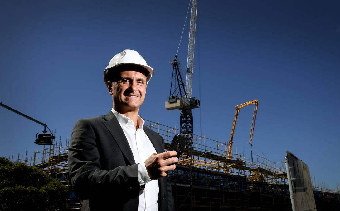 Building An Idea: Construction Lawyer Lou Stojanovski Has Designed An App To Aid Builders And Subcontractors Track Payments. Picture: Marina Neil
