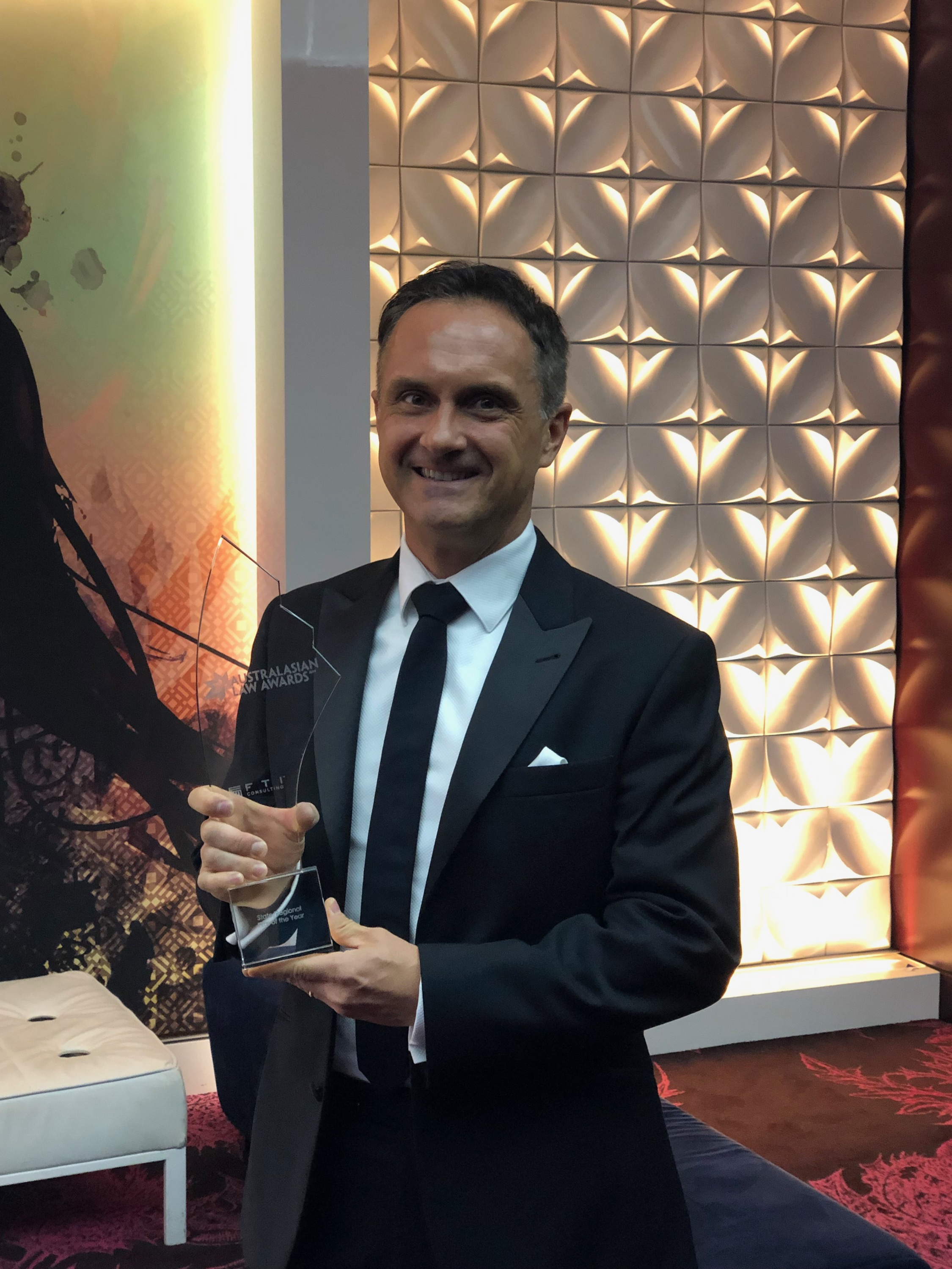 ' Principal Lou Stojanovski With Australasian Law Award For 2019 State Regional Law Firm Of The Year Pic 3 (002)