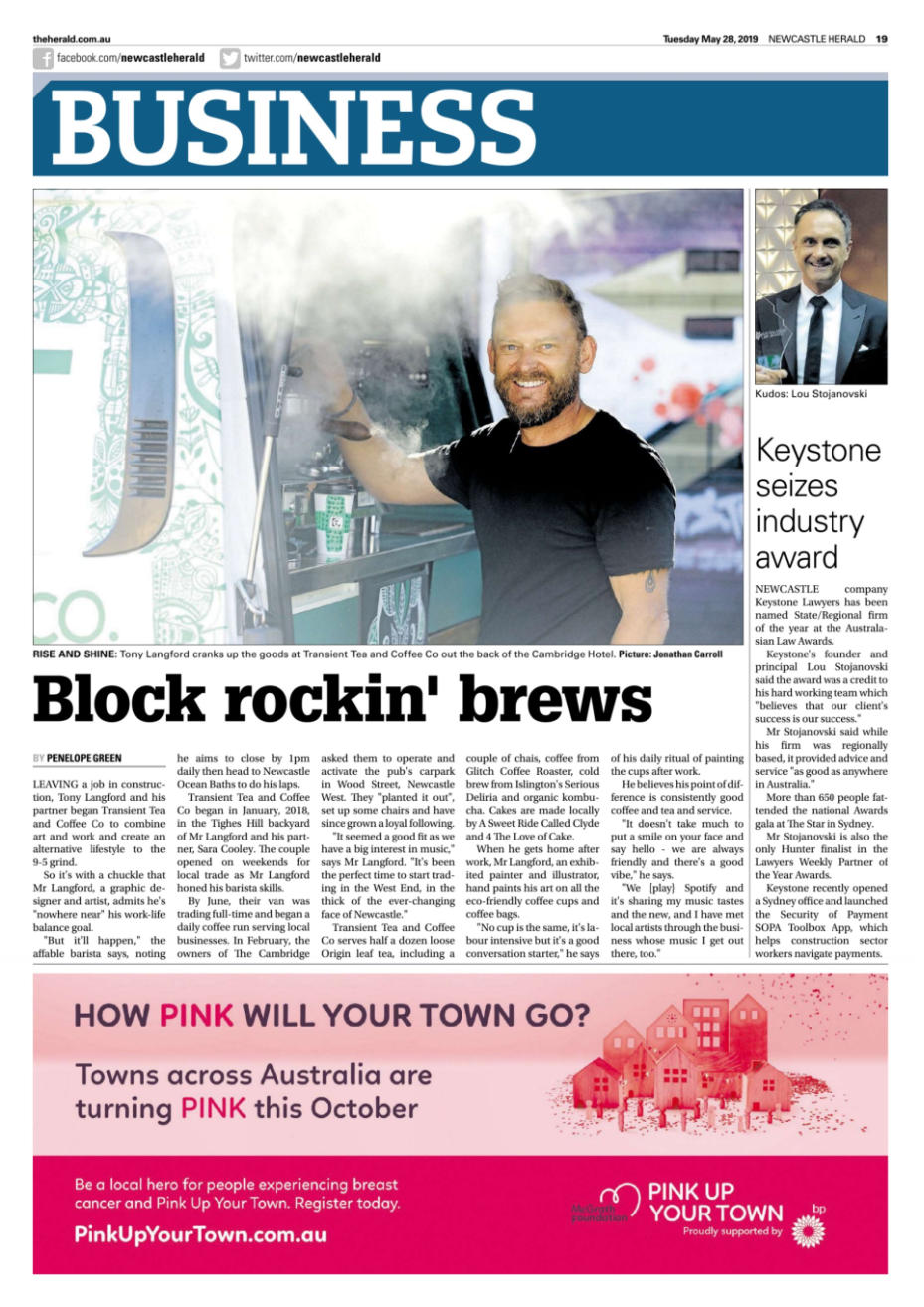 Keystone Featured In The Newcastle Herald